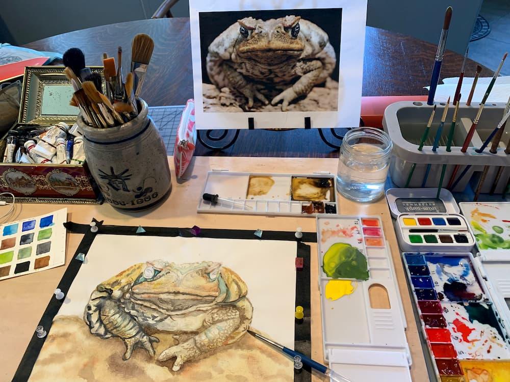 In Progress Painting